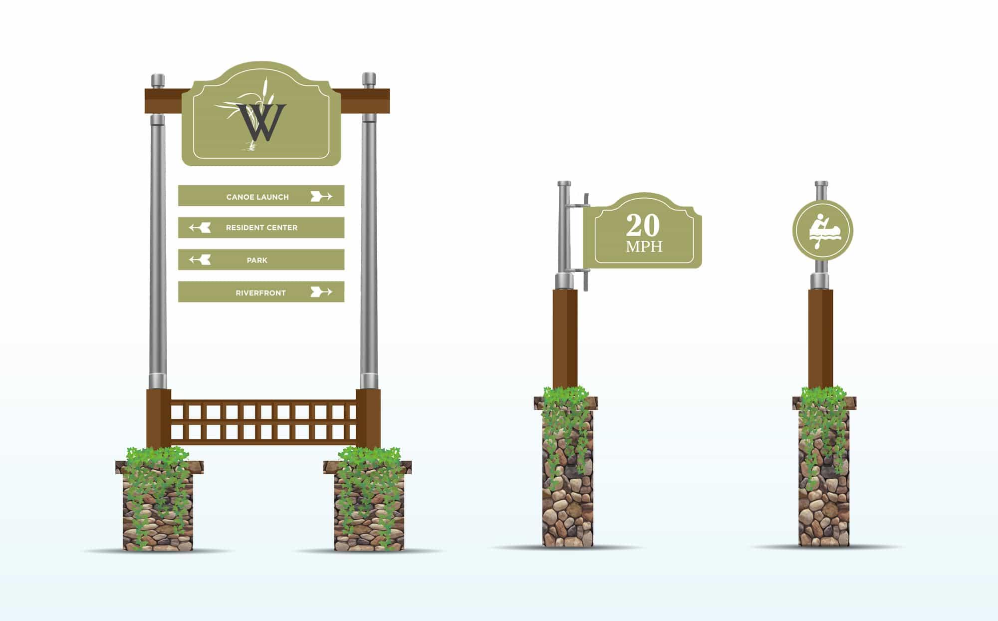 Waters Edge Signage