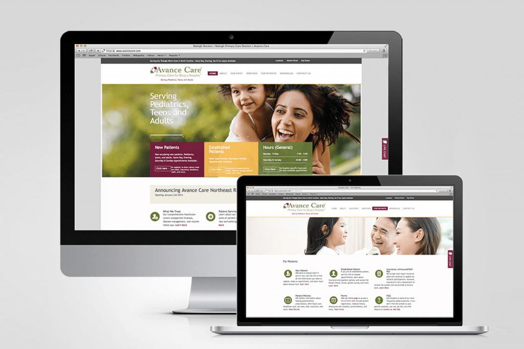 Avance Care - web design