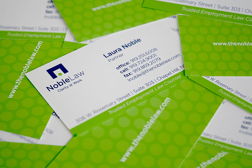 Noble Law Firm Business Cards