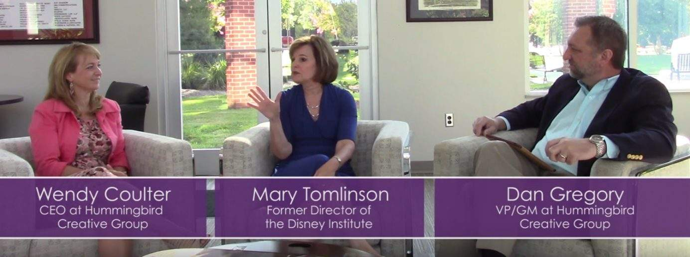 Mary Tomlinson, former Director of the Disney Institute - Hummingbird Creative Group